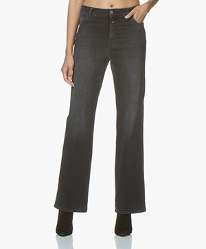 Closed Kathy Straight Leg Jeans - Washed Blue/Black