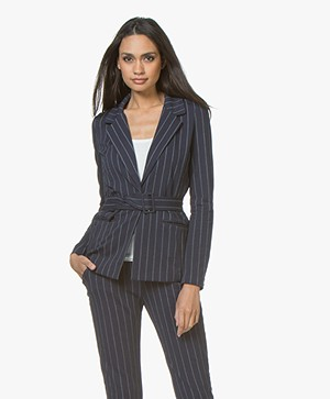 Josephine & Co Jacobi Jersey Striped Blazer - Navy