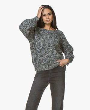 Leï 1984 Maud Chunky Knit Sweater - Black Melange