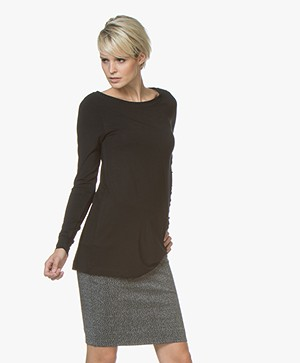 Kyra & Ko Rana Lang Jersey Longsleeve T-shirt - Zwart