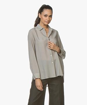 Filippa K High-low Tencel Shirt - Oyster