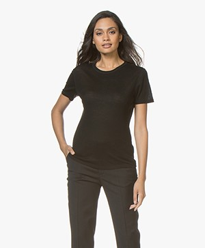 Filippa K Merino Wool T-shirt - Black