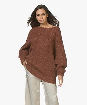 LEÏ 1984 Nicole Oversized Noppé Sweater -  Rust Melange