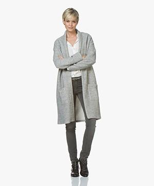 LEÏ 1984 Gaspard Cardi-coat - Grey Melange