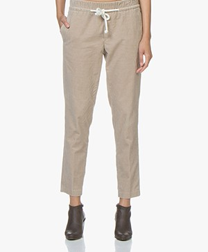 Closed Blanch Cropped Corduroy Broek - Vintage Beige