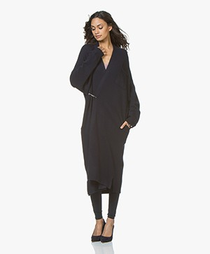 Extreme Cashmere N°61 Koto Maxi Length Cardigan - Navy