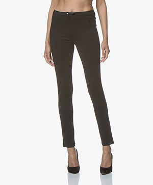 Repeat Ponte Jersey Pants in Viscose Blend - Black