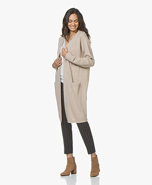 Resort Finest Maxime Long Open Cardigan - Beige
