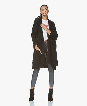 American Vintage Oversized Vest Vacaville - Zwart