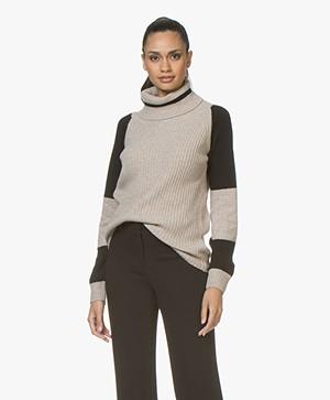 Belluna Vogue Color-block Coltrui - Beige/Zwart