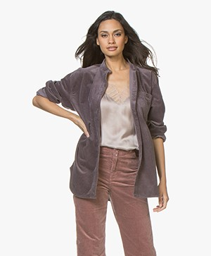Closed Alfie Corduroy Blouse - Grey of Lilac