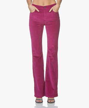 Current/Elliott The Jarvis Corduroy Flared Broek - Wild Aster