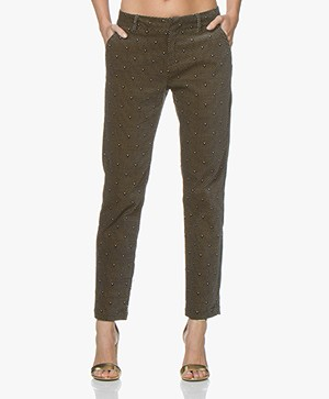 MKT Studio Program Velours Pantalon met Print - Zwart