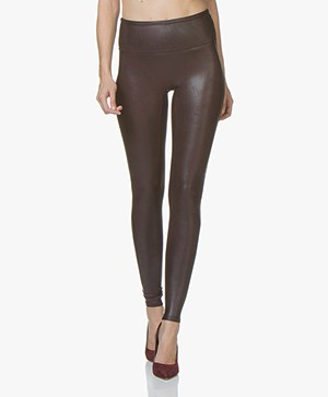 SPANX® Ready-to-Wow! Faux Leather Leggings - Wine