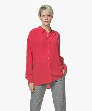 BOSS Ecluni Zijden Blouse - Bright Red