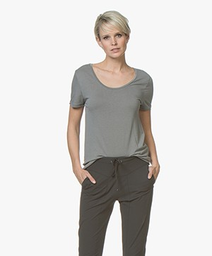 Filippa K Scoop Neck Tee - Storm
