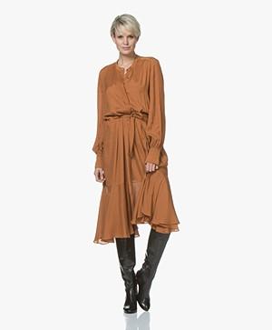 Magali Pascal Alma Pleated Midi Dress - Topaz