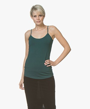no man's land Viscose Singlet - Emerald