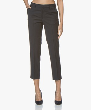 Filippa K Emma Cropped Cool Wool Pantalon - Donkerblauw