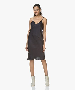 BRAEZ Dollen Viscose Slip Dress - Navy