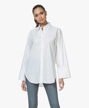 By Malene Birger Nadeonso Katoenen Overhemdblouse - Pure White