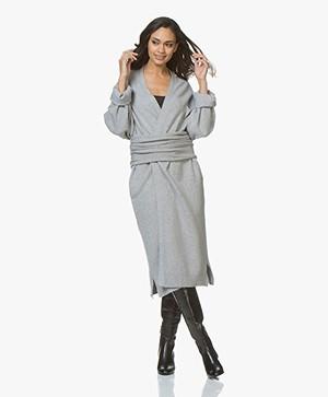 extreme cashmere N°61 Koto Maxi-lengte Vest - Grijs