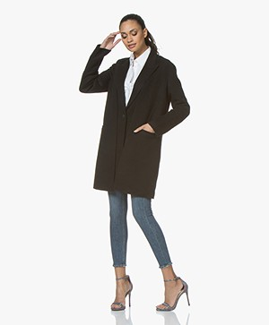 Rag & Bone Kaye Tailored Fit 3-in 1-Vest Coat - Black