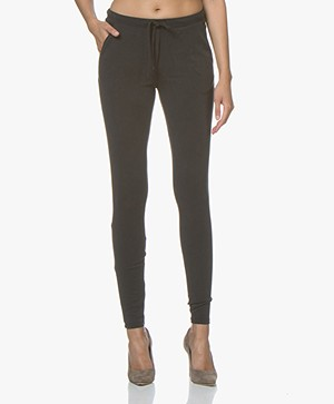 Woman By Earn Fae Modal Blend Jersey Pants - Black