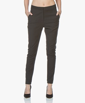 By Malene Birger Teodosiah Pantalon in Stretch-wol - Zwart