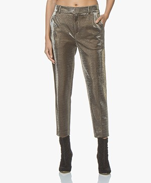 Drykorn Find Lurex Jersey Pants - Taupe