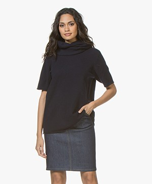 extreme cashmere N°8 Multifunctioneel Accessoire - Navy