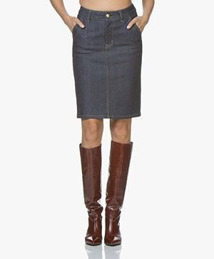 Filippa K Alicia Raw Denim Skirt - Dark Blue