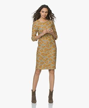 Kyra & Ko Maud Jacquard Jersey Print Dress - Chai