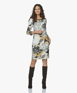 Kyra & Ko Wies Printed Dress with Lurex - Black