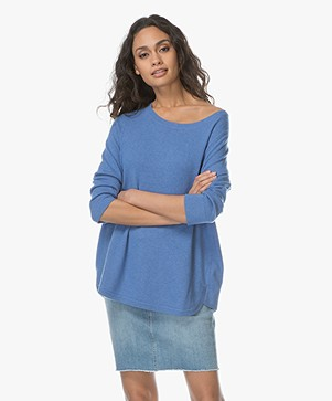 Repeat Pullover in Cashmere and Silk - Blue