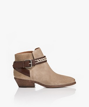ba&sh Cassidy Suede Ankle Boots - Sable