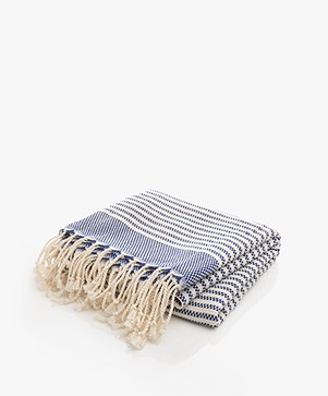 Bon Bini Hammam Towel Nawati 180cm x 90cm - Navy