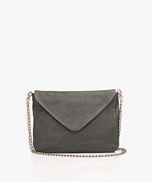 BY-BAR Run Leather Shoulder Bag - Dark Green