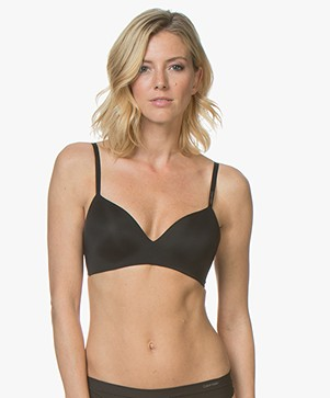 Calvin Klein Form Lightly Lined Demi BH - Black