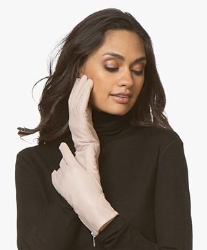 Filippa K Zip Leather Gloves - Tearose