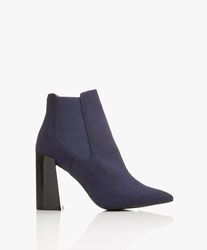 Matt & Nat Fran Heeled Chelsea Boot - Navy