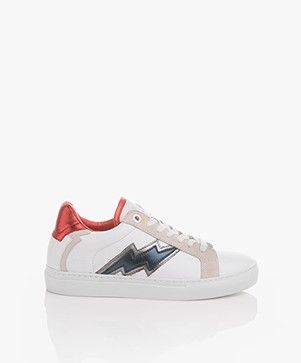 Zadig & Voltaire Flash Leather Sneakers - White