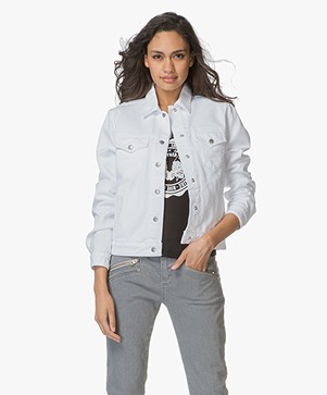 Rag & Bone Nico Denim Jacket - White