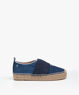 Rag & Bone Nina Denim Espadrilles - Blue Denim