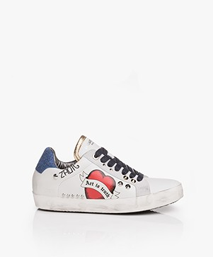 Zadig & Voltaire Used Leather Sneakers - White