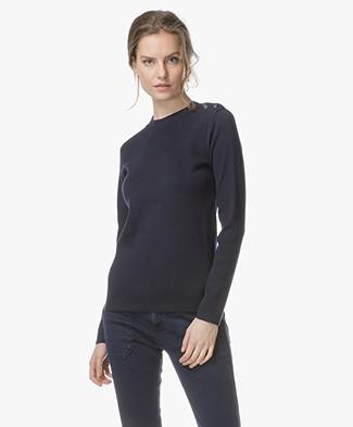 Petit Bateau Mythique Cotton Sweater - Smoking