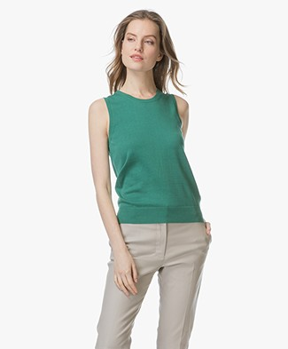 Repeat Sleeveless Cotton Blend Pullover - Green