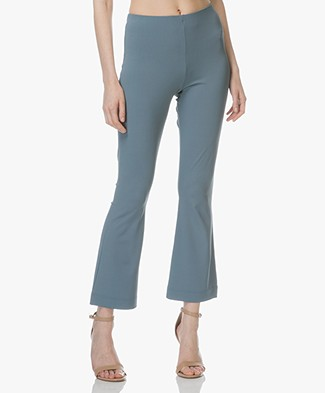 no man's land Crêpe Jersey Pants - Eucalyptus