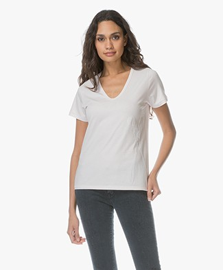 Denham Royal Linen Blend Tee - Sweet Pink