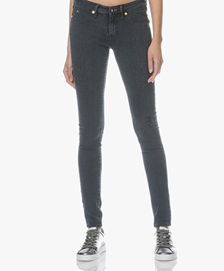 Denham Spray Super Tight Fit Jeans Spray - Washed Grey/Blue